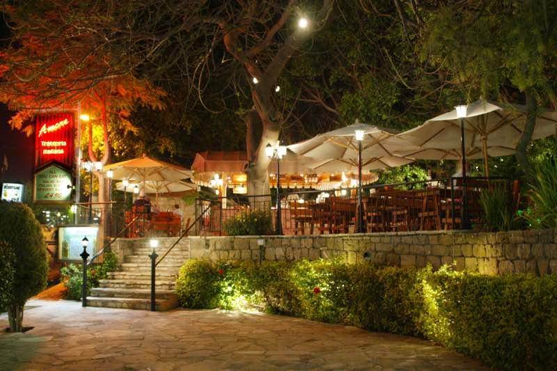 Dionysos Central Hotel Paphos Amore Trattoria Italiana Restaurant